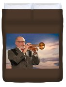 Mike Vax Professional Trumpet Player Photographic Print 3765.02 Duvet Cover