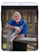 Mike Vax Professional Trumpet Player Photographic Print 3766.02 Duvet Cover