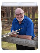 Mike Vax Professional Trumpet Player Photographic Print 3767.02 Duvet Cover