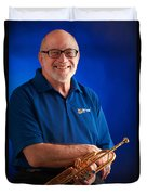Mike Vax Professional Trumpet Player Photographic Print 3771.02 Duvet Cover