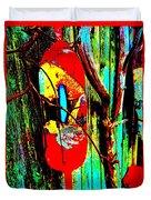 Mike's Art Fence 128 Duvet Cover