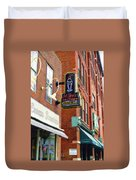 Mike's Ice Cream And Coffee Bar Duvet Cover