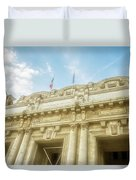 Milan Italy Train Station Facade Duvet Cover