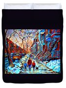 Mile End Montreal Neighborhoods Duvet Cover