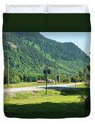 Mile Marker 100 Duvet Cover