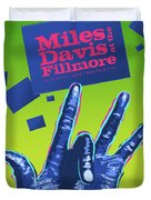 Miles At The Fillmore Duvet Cover