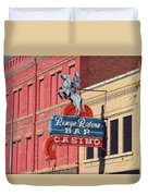 Miles City, Montana - Downtown Casino Duvet Cover