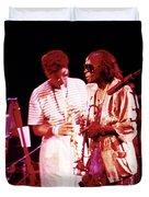 Miles Davis Image 10 And Bob Berg 1985 Your Under Arrest Tour Duvet Cover