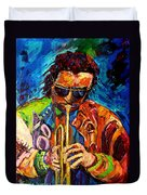 Miles Davis Hot Jazz Portraits By Carole Spandau Duvet Cover
