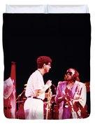 Miles Davis Image 9  With Bob Berg  Duvet Cover