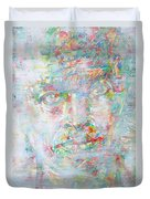 Miles Davis - Watercolor Portrait.4 Duvet Cover