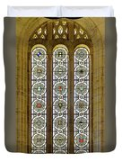 Military Insignia On Stained Glass - Meuse Argonne - East Duvet Cover