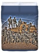 Military Police Pose For This Hdr Image Duvet Cover