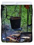 Military Revolutionary War Campfire Vertical Duvet Cover