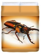 Military Stag Beetle Duvet Cover