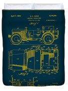 Military Vehicle Body Patent Drawing 1a Duvet Cover