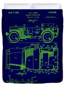 Military Vehicle Body Patent Drawing 1e Duvet Cover