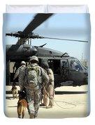 Military Working Dog Handlers Board Duvet Cover