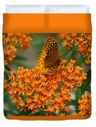 Milkweed And A Frittalary Duvet Cover