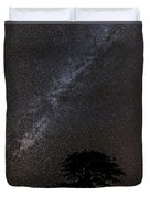 Milky Way And Tree Duvet Cover