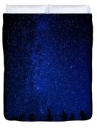 Milky Way And Trees Duvet Cover