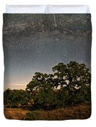 Milky Way Arch Over Enchanted Rock State Natural Area - Fredericksburg Texas Hill Country Duvet Cover
