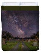 Milky Way Cemetery Duvet Cover