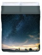 Milky Way During Perseids Duvet Cover