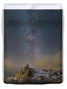 Milky Way In Lofoten Duvet Cover