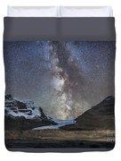 Milky Way Over Athabasca Glacier Duvet Cover