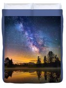 Milky Way Over Coffin Pond  Duvet Cover