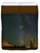 Milky Way Over Farmland In Central Oregon Duvet Cover