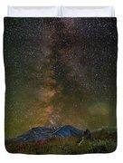 Milky Way Over Mount St Helens Duvet Cover
