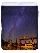 Milky Way Over Old Corral Duvet Cover
