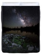 Milky Way Over Pass Lake Duvet Cover