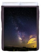 Milky Way Over The Boardwalk Duvet Cover
