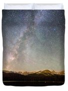 Milky Way Over The Colorado Indian Peaks Duvet Cover