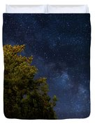 Milky Way Over The Forest At The Troodos Mountains In Cyprus. Duvet Cover