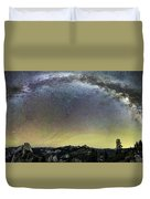 Milky Way Over Yosemite Valley Duvet Cover