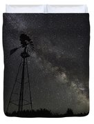 Milky Way Windmill  Duvet Cover