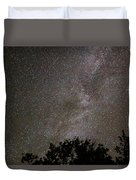 Milky Way With Perseid Meteor Duvet Cover