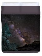 Milkyway At The Mountains Duvet Cover