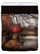 Mill - Clinton Nj - The Mill And Wheel Duvet Cover