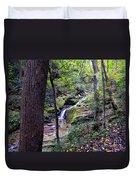 Mill Creek Falls Duvet Cover