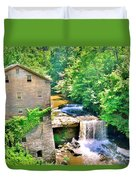 Mill Creek Park Lanterman's Mill And Covered Bridge Duvet Cover