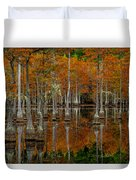 Mill Pond Reflections Duvet Cover