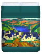 Mill Town, Quebec Duvet Cover