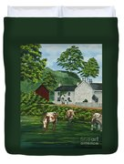 Milldale In Staffordshire Duvet Cover