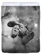Millennium Falcon And Cosmos Duvet Cover