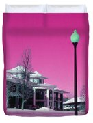 Miller Park Pavilion False Color Ir Number 1 Duvet Cover